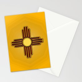 Fancy Flag:  New Mexico Stationery Cards