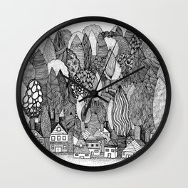 Mysterious Village Wall Clock