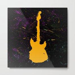Messy Music Metal Print