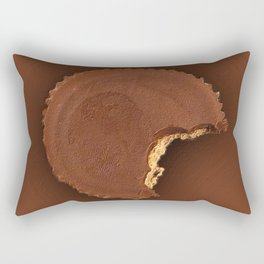 Chocolate Peanut Butter Cup Candy Rectangular Pillow