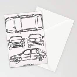 Fiesta MK4 Stationery Cards