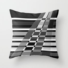 Black and white abstract pattern . The slant line 1. Throw Pillow