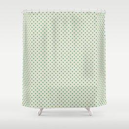 the green dot on light beige Shower Curtain