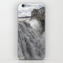 Dettifoss waterfall in Iceland - nature landscape iPhone Skin