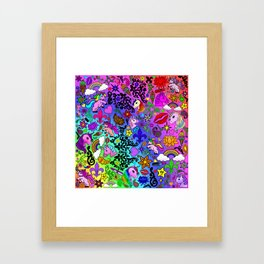 Unicorn Lovers Framed Art Print