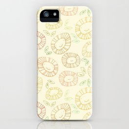 smiley flowers iPhone Case
