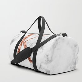 Monogram rose gold marble K Duffle Bag