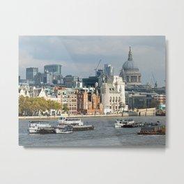 London Thames - Saint Pauls Metal Print