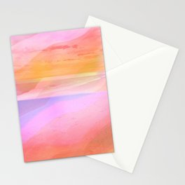 Seascape in Shades of Peach Purple and Pink Stationery Cards
