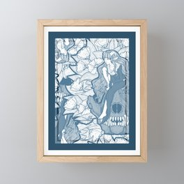 The Lamb and the Wolf Seamless Pattern Framed Mini Art Print