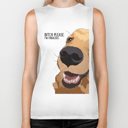 Bitch Please.  I'm Fabulous.  Golden Retriever Biker Tank