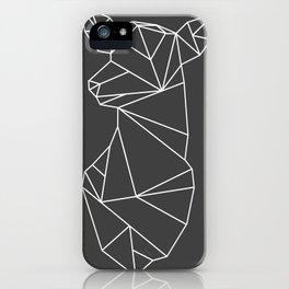 Geometric Doe (White on Grey) iPhone Case