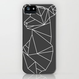 Geometric Doe (White on Grey) iPhone Case