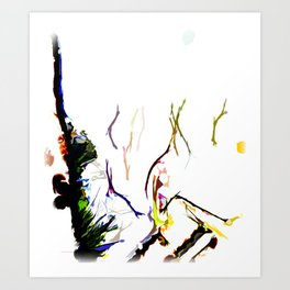 Abstract of Shapes and Color Art Print