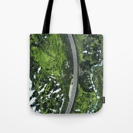iceland road high view Tote Bag