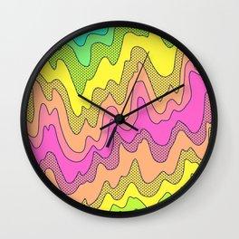 Ooo Ahh Melty Neon Rainbow Wall Clock
