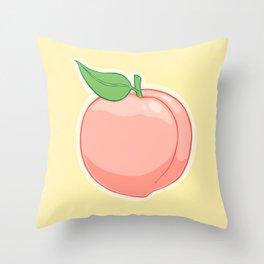 Peachy Throw Pillow