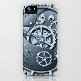 Steampunk clock silver iPhone Case