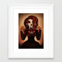 theatre Framed Art Prints featuring Skull Theatre by Anna Lisa Wardle