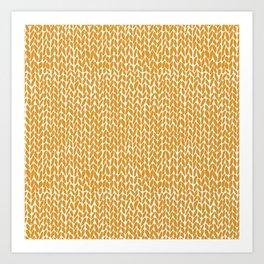 Hand Knit Orange Art Print