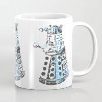 dalek Mugs featuring Dalek Graffiti by spacemonkey89