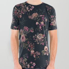 Japanese Boho Floral All Over Graphic Tee