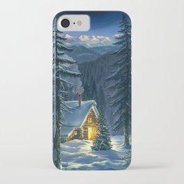 Christmas Snow Landscape iPhone Case