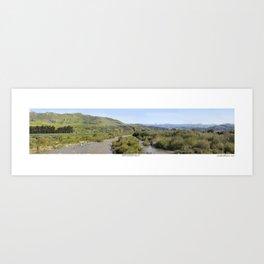 Ventura River Valley Art Print