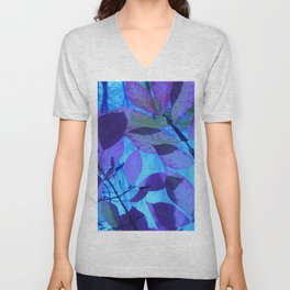 Purple Leaves Unisex V-Neck
