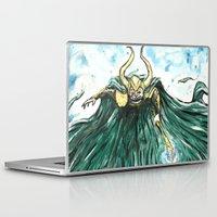 loki Laptop & iPad Skins featuring Loki by Crooked Octopus