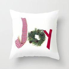 Holiday Joy at Christmastime!  Throw Pillow
