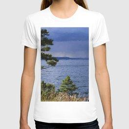 Rain On Yellowstone Lake #2 T-shirt