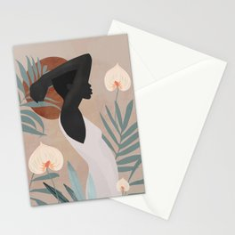 Tropical Girl 4 Stationery Cards