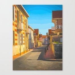 sunny street Canvas Print