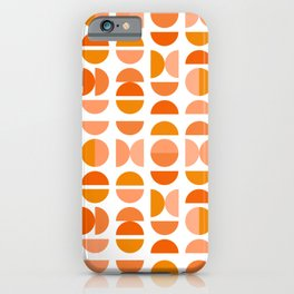 Mid Century Modern Tangerine Geometry iPhone Case