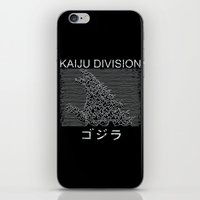 kaiju iPhone & iPod Skins featuring Kaiju Division by pigboom el crapo