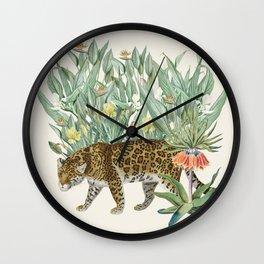 Floral Tiger Jungle Wall Clock