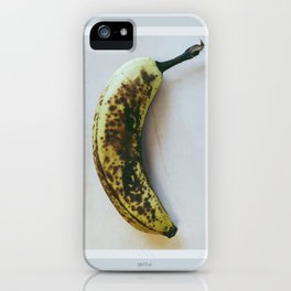 Leopard hiding in a banana iPhone Case