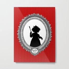 Alice's Adventures in Wonderland - Queen of Hearts Silhouette Metal Print