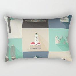 Chicago Landmarks Rectangular Pillow