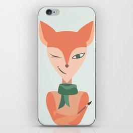 red foxy artist iPhone Skin