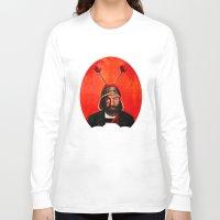 selena gomez Long Sleeve T-shirts featuring Roberto Gomez Bolanos El Chavo Del Ocho by Minerva Torres-Guzman