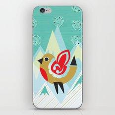 Festive Yule Snow Robin iPhone & iPod Skin