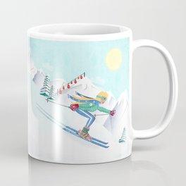 Skiing Girl Coffee Mug