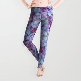 Blue Purple Grape Pattern Leggings