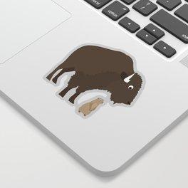 buffalo & prairie dog - I've got you covered Sticker