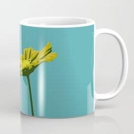 Sky Blue & Yellow Flower Graphic Pop Art Coffee Mug