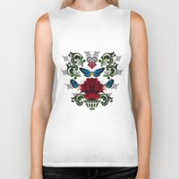 butterflies Biker Tanks featuring Butterflies by Lorelei Douglas