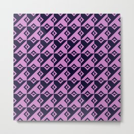 Diagonal squares in pink and purple colours Metal Print