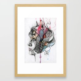 Animal Spirits: Cat Framed Art Print
